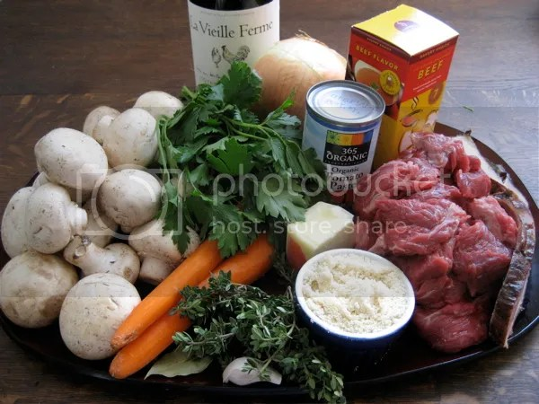 ingredients 3 Beef Burgundy