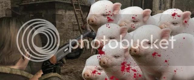 resident evil pigs