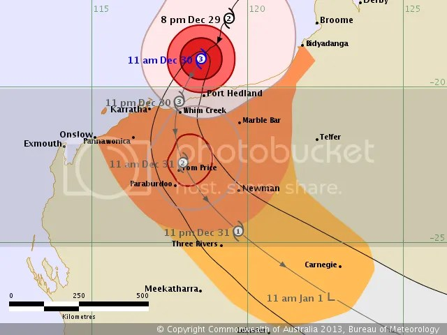 cyclone christine path track