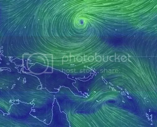 NH and SH twins- tropical low windstreams  1st march 2014