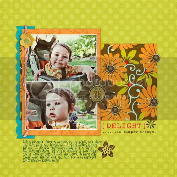 My CUTIE! I used Corinas new paper pack called Hip Summer