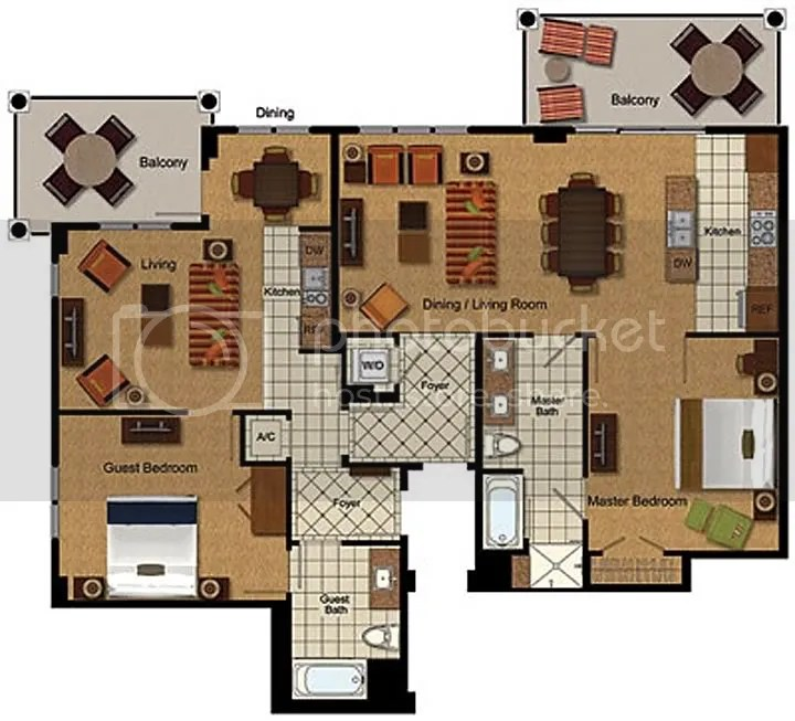 Marriott Grande Vista 2 Bedroom Villa Floor Plan Www