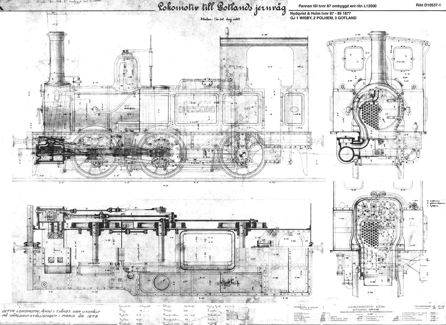 Steam Locomotive Cross Section