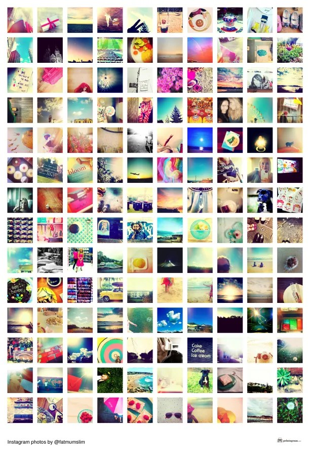 Instagram mosaic example