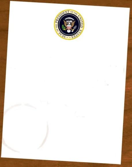 Write Bushs Note to Obama