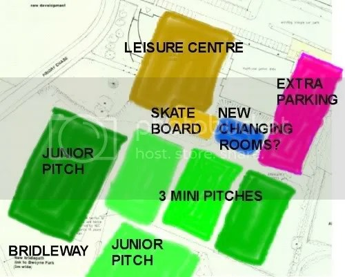 Sketch map of Proposed Football Pitches