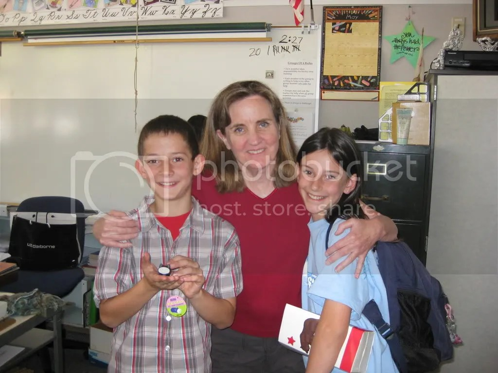 Last day of 4th grade, with their teacher