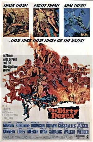 Original movie poster for The Dirty Dozen