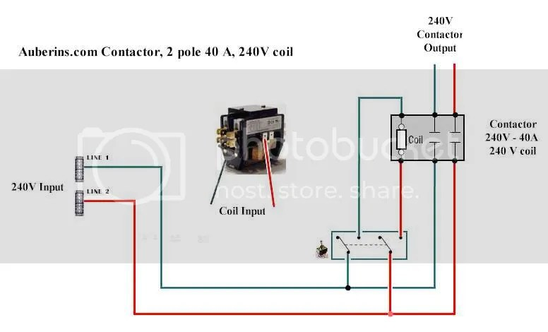 Wiring Diagram For Ac Contactor : Single pole contactor wiring diagram