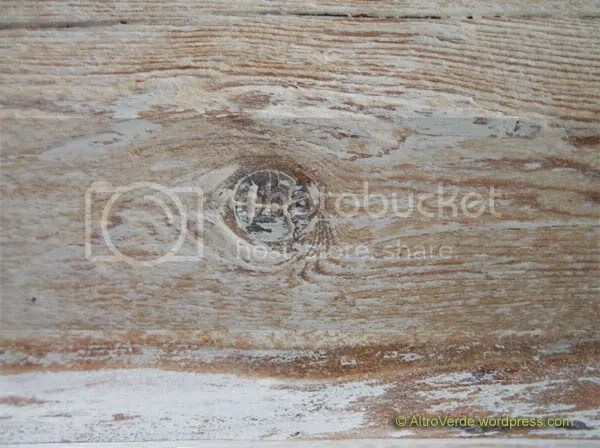 Close-up of a wooden beam after treatment