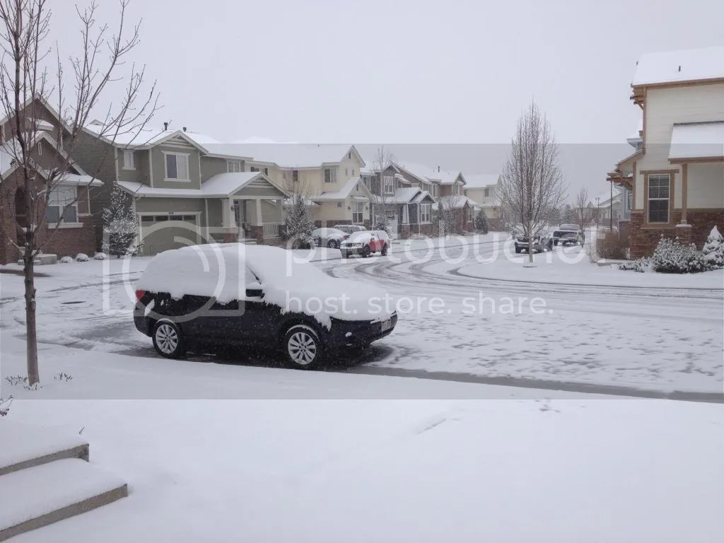 it snowed overnight in Denver