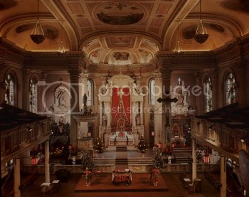 The beautiful altar in St. Alphonsus Church in New Orleans.