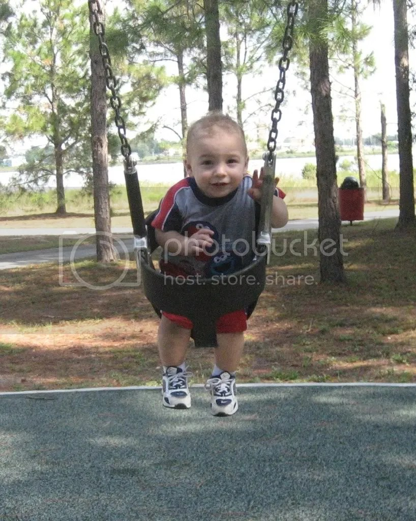 Troy swinging