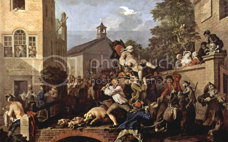 The Election IV Chairing the Member, 1754-55 by William Hogarth © Bridgeman Art Library / Courtesy of the Trustees of Sir John Soane's Museum, London
