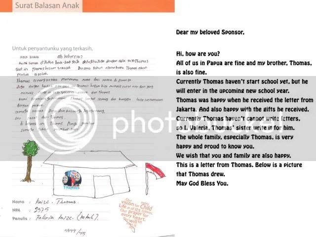Thomas letter 2013