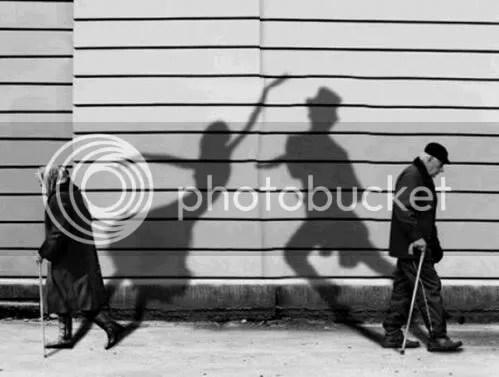 Old Man / Old Woman Dancing Shadows