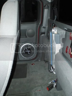 My Sub Setup Subwoofer in the ext cab doors (lots of pics
