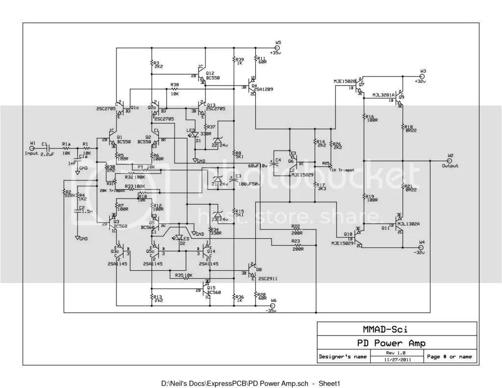 Power Amp Schematic