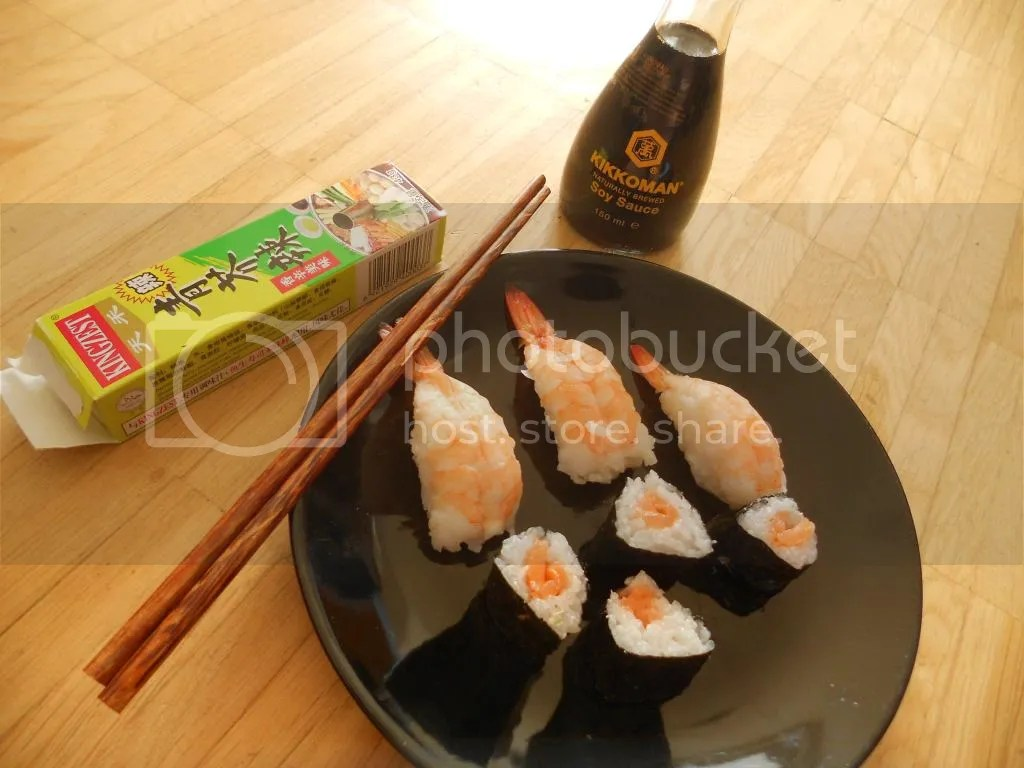 Shrimp & Salmon Sushi