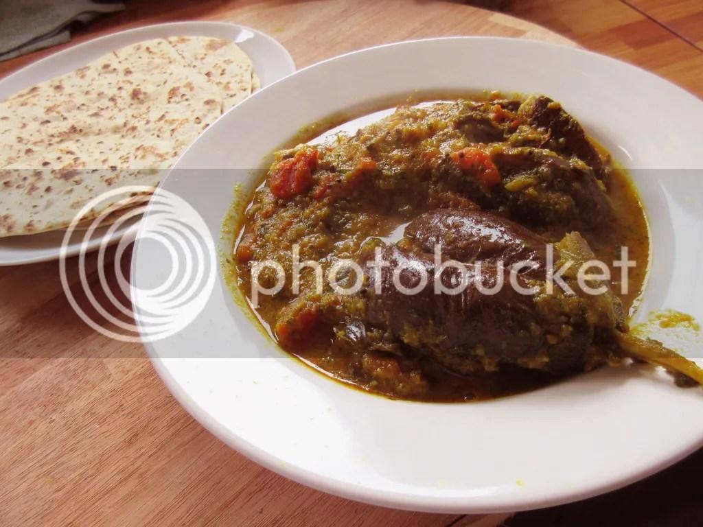 Bhare hue Baigan ki Sabji (Spicy Indian aubergines)