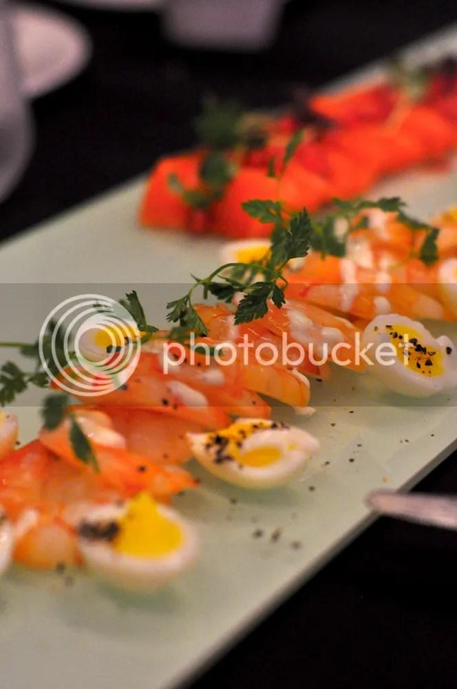 Prawn & Egg Salad.