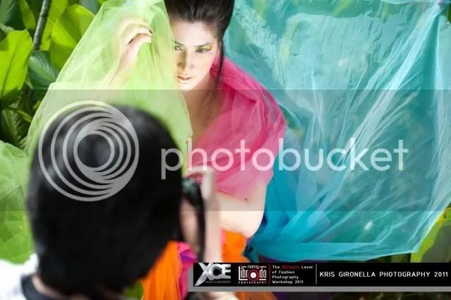 Make up artist  Jackie Forster turned model.