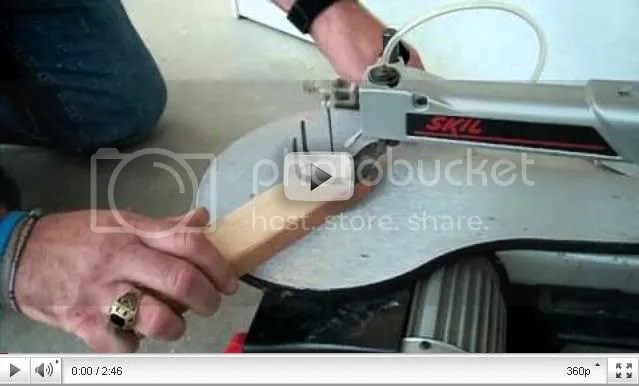Scrollsaw table saw video splash page