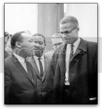 Malcolm X and Dr Martin Luther King Jr 1964