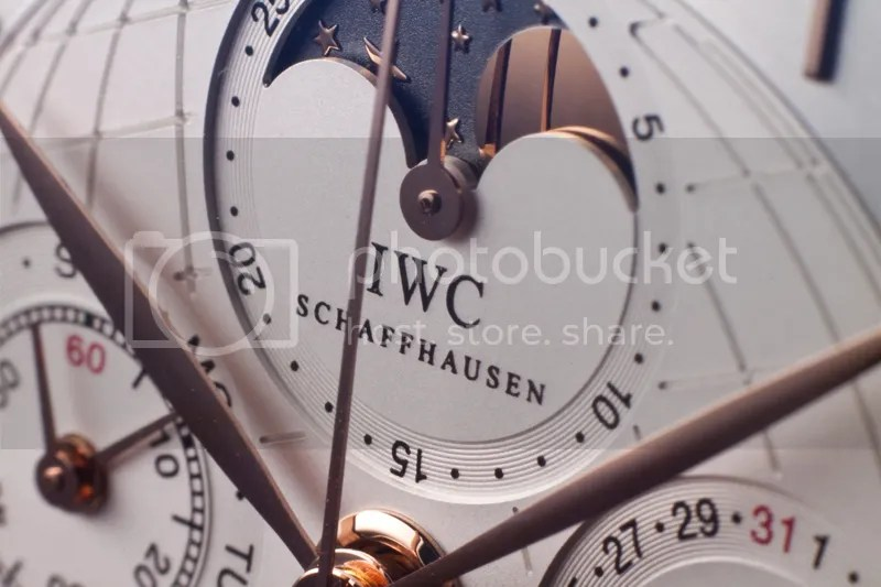 Close-up IWC Portuguese Grande Complication in Red Gold (5N).
