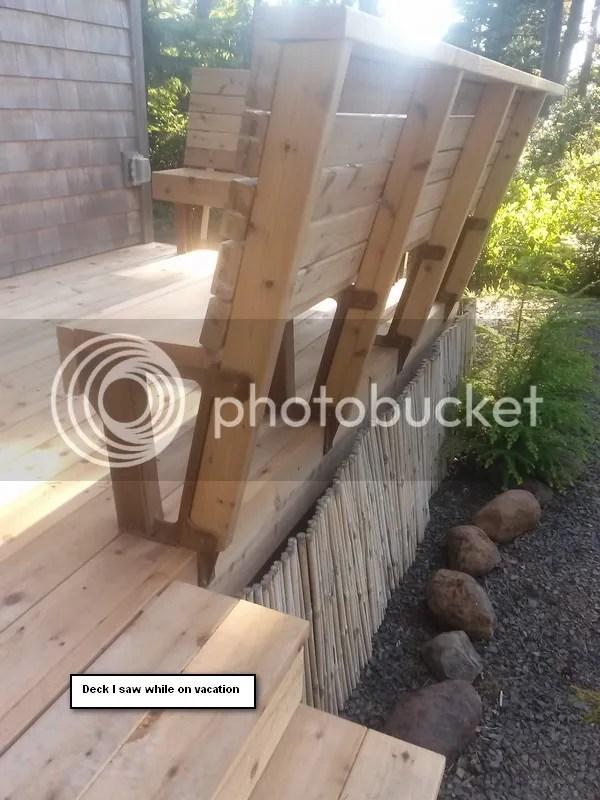 Deck Bench Question Doityourself Com Community Forums