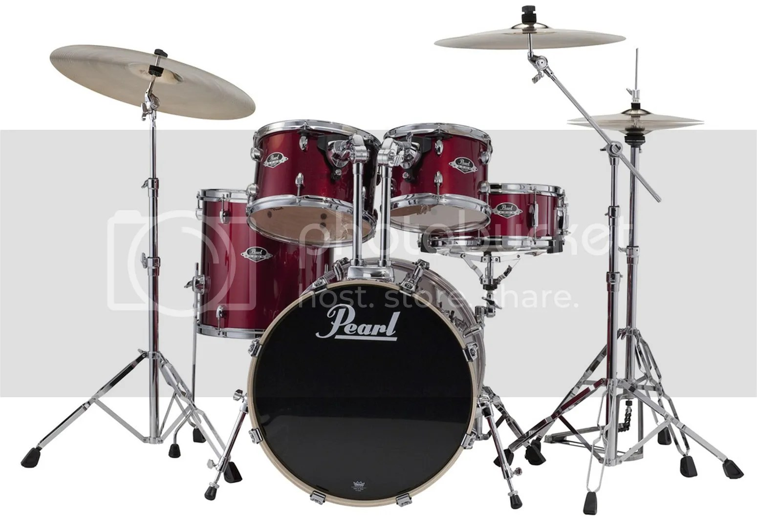 Pearl Export Drum Set 5 Piece Kit w  Hardware Red Wine Finish EXX705     photo PearlExportRedWine2 zps82cd4aa8 jpg