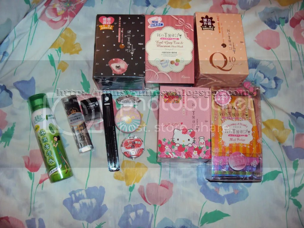 Package from Taiwan (This time there are beauty items