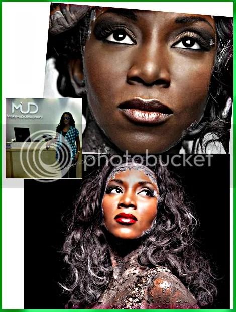 Genevieve Nnaji for MUD Cosmetics AD Campaign