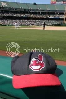 Indians cap at Oakland