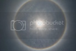 Rainbow Ring around sun