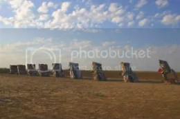The Cadillac Ranch in Amarillo, TX