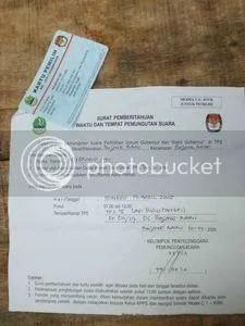 Kartu Pemilih dan undangan nyoblos