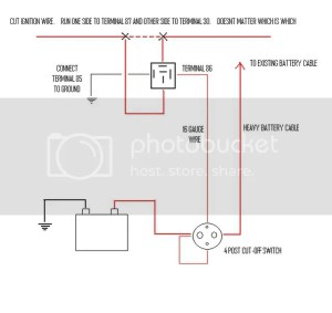 Wiring diagram for a battery disconnect  LS1TECH