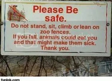 you will make the animals sick!