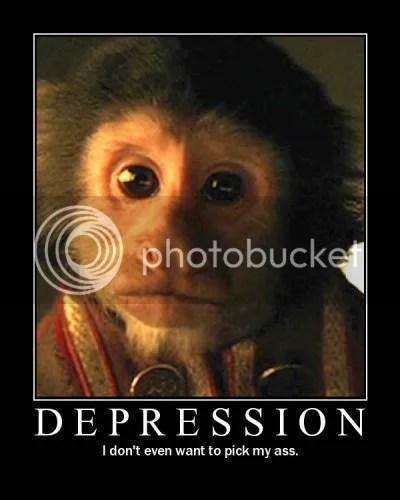 monkey depression