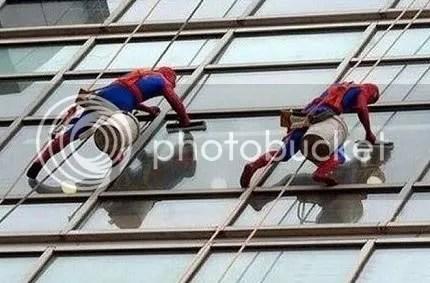 spiderman window washers