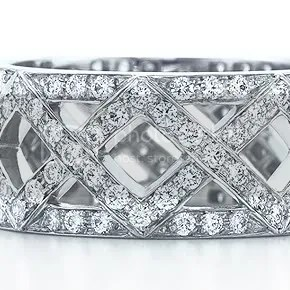 Braided Diamond Wedding Band at Tiffany & CO $7000