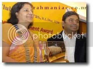 Rotary club honored Rahman