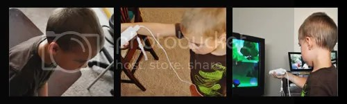 Boy playing Jumpstart Wii Pet Rescue Game