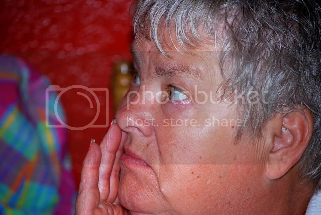 grandma at family reunion