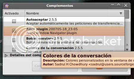 Plugins de Pidgin para AWN en Ubuntu 9.04 Jaunty Jackalope