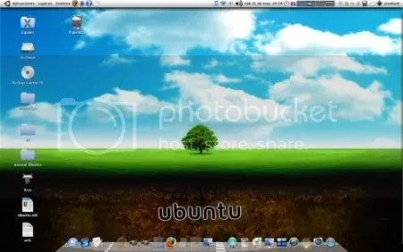 Mi wallpaper de Ubuntu desktop Mayo