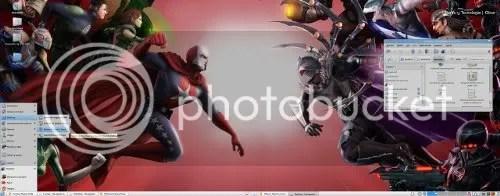 Este es mi escritorio utilizando el tema Vamox. Puedes dar clic para ampliar la imagen.