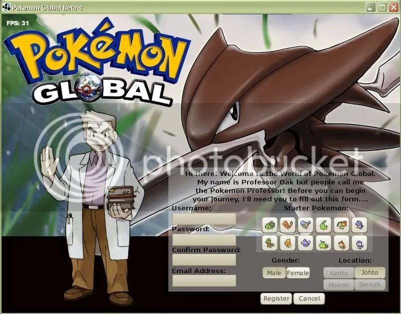 Pokemon Global register