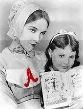 Hester and Pearl Prynne, The Scarlet Letter, 1850